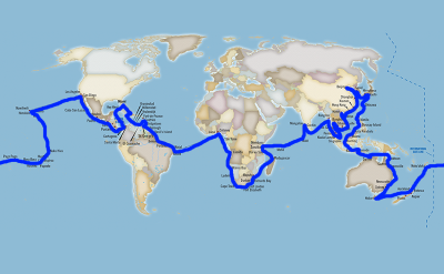 Oceania World Cruise Map