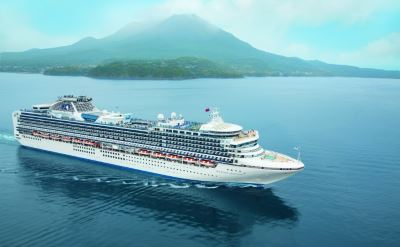 Diamond Princess ship in Japan